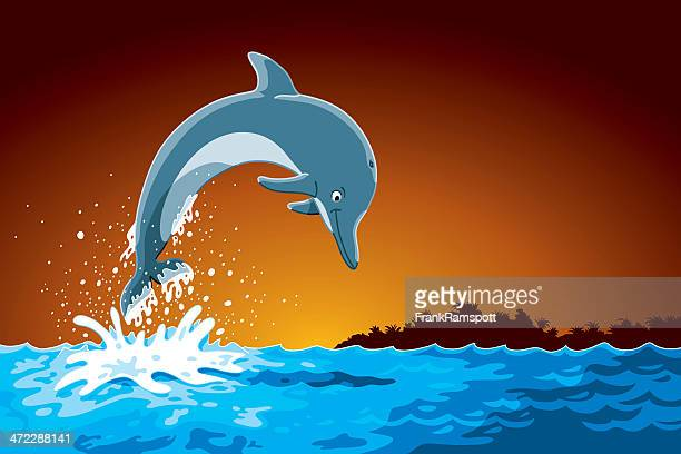 Jumping Cartoon Dolphin