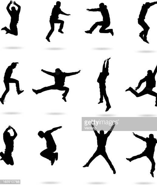 jumping people - dancing stock illustrations, clip art, cartoons, & icons