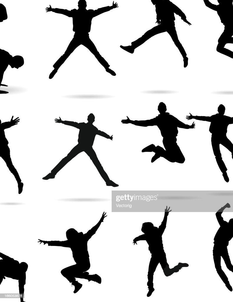 Jumping Silhouette : stock illustration