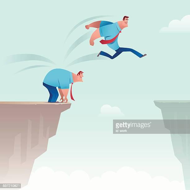 jumping through gap