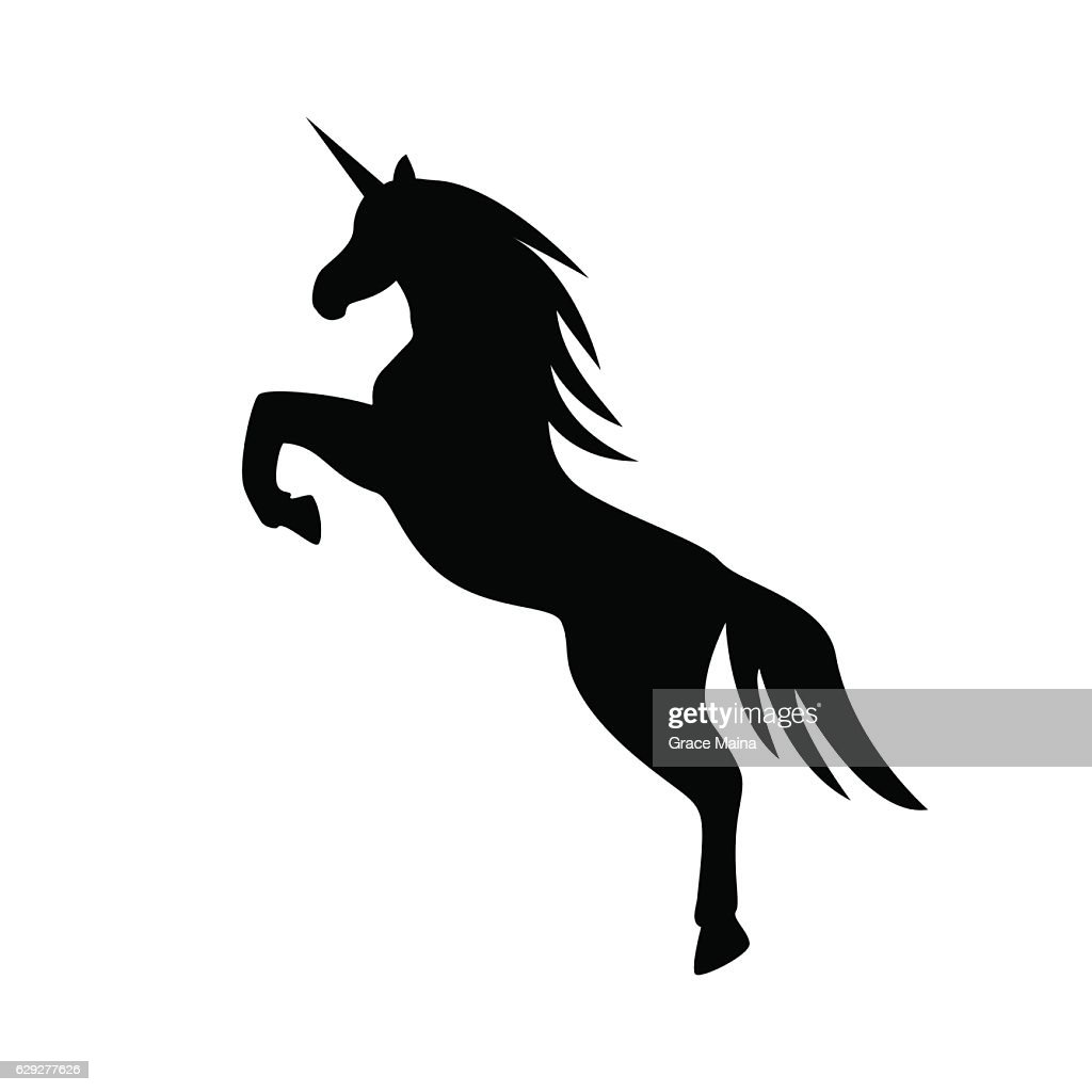 Jumping Unicorn llustration - VECTOR