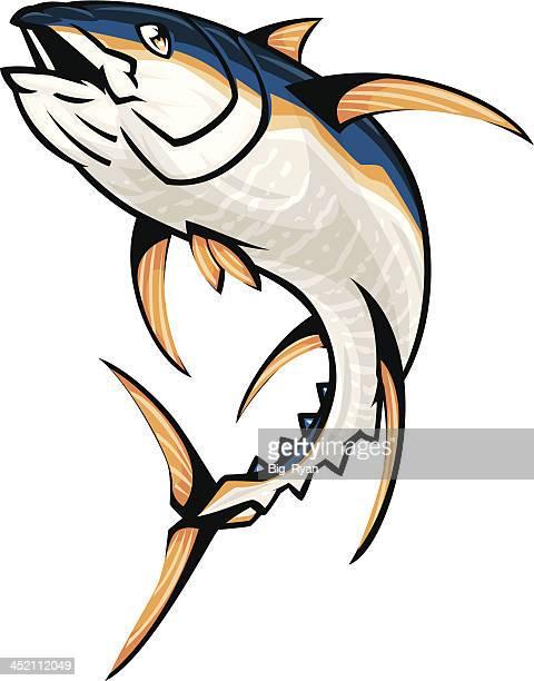 jumping yellowfin tuna