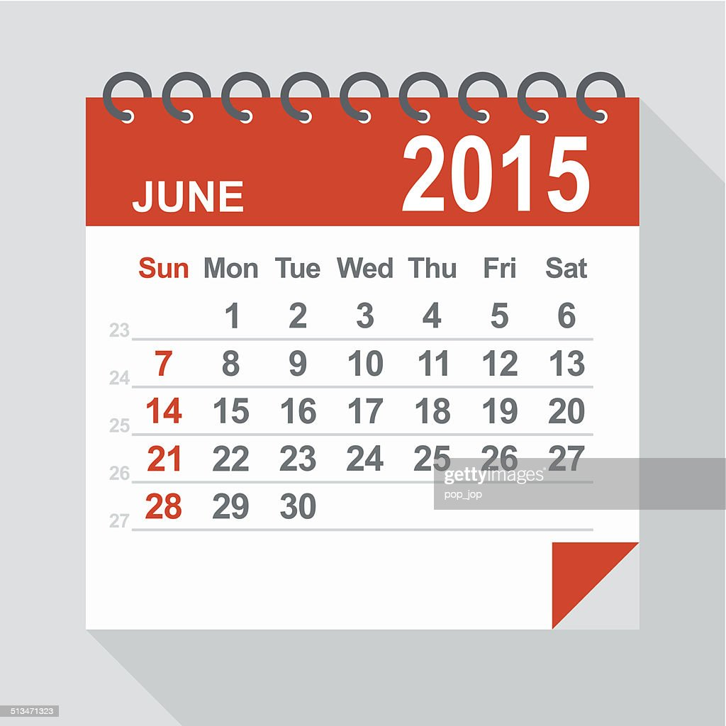 June 2015 calendar - Illustration : stock illustration