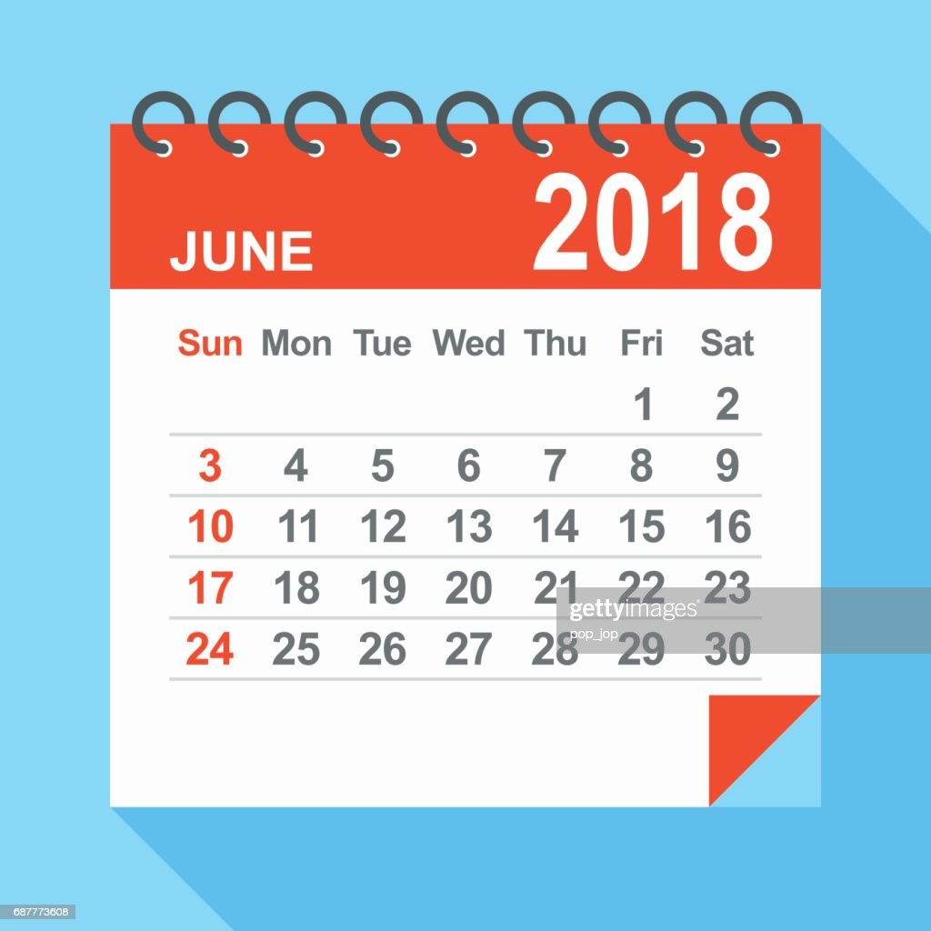 June Calendar Vector : June calendar vector art getty images