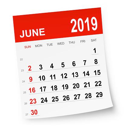 June 2019 calendar - gettyimageskorea