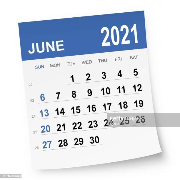 june 2021 calendar - june stock illustrations