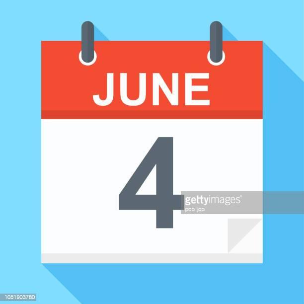 June 4 - Calendar Icon
