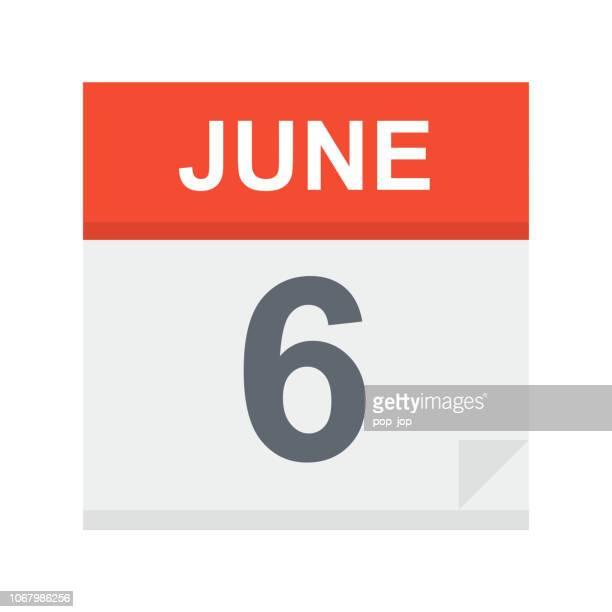 6. Juni: Kalendersymbol