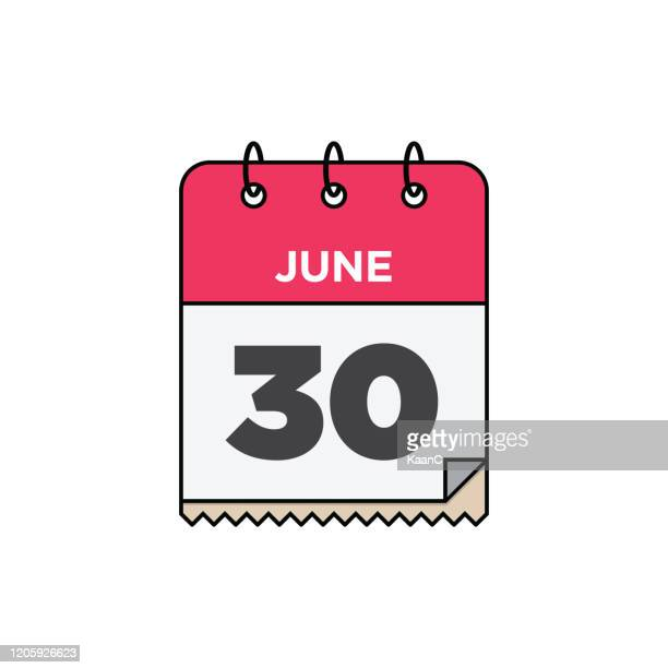 june calendar icon stock illustration - june stock illustrations