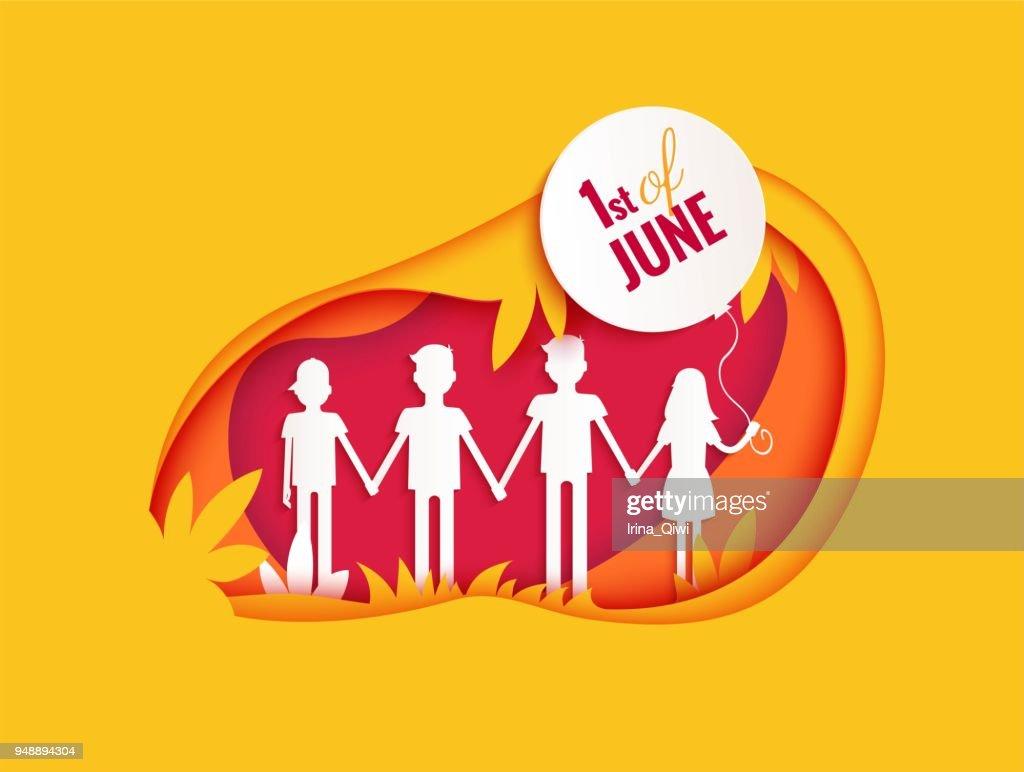 1 june international childrens day poster