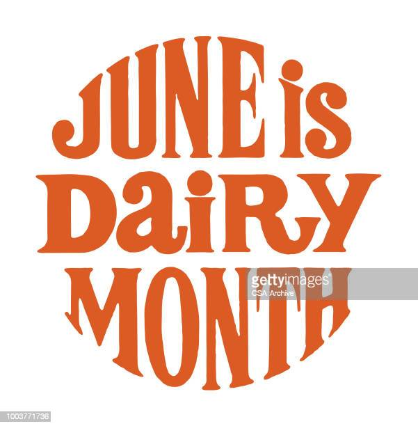 june is dairy month - june stock illustrations