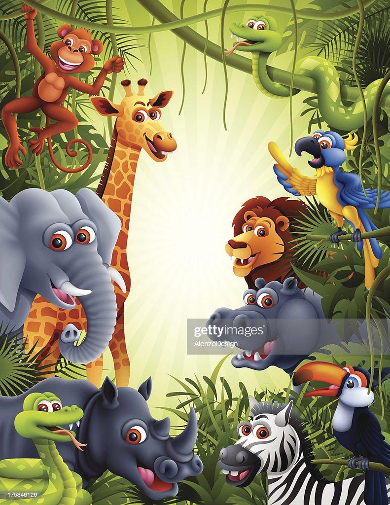 Jungle Animals : stock illustration