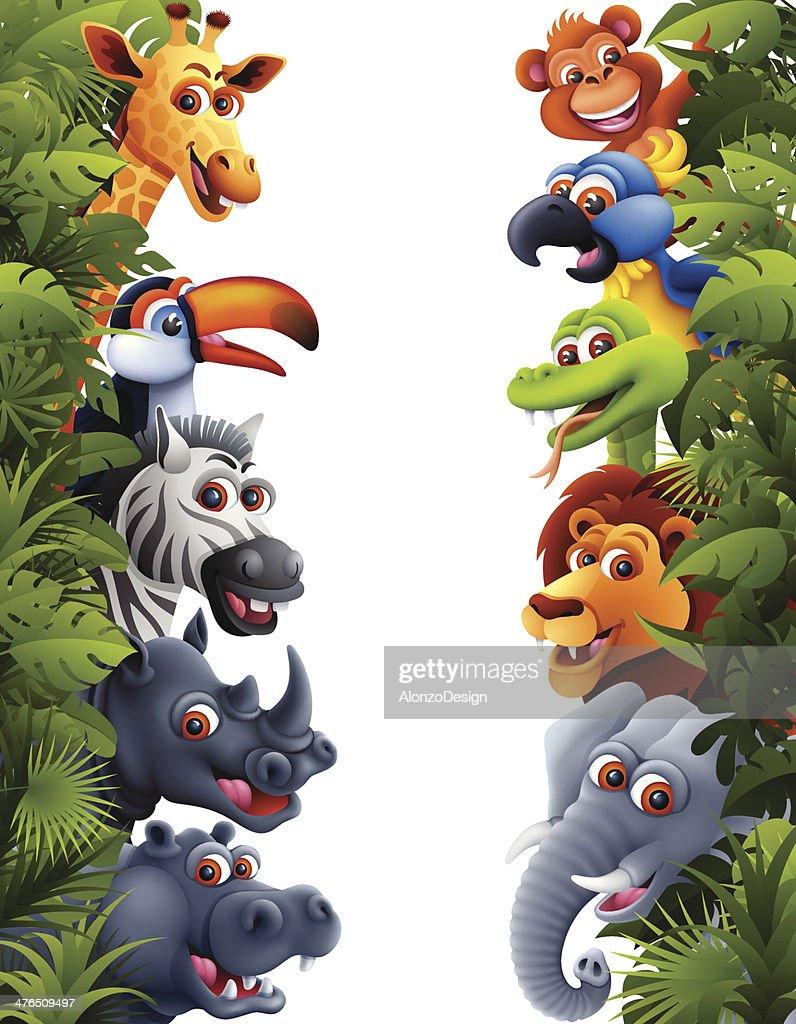 Animales de la selva : Ilustración de stock