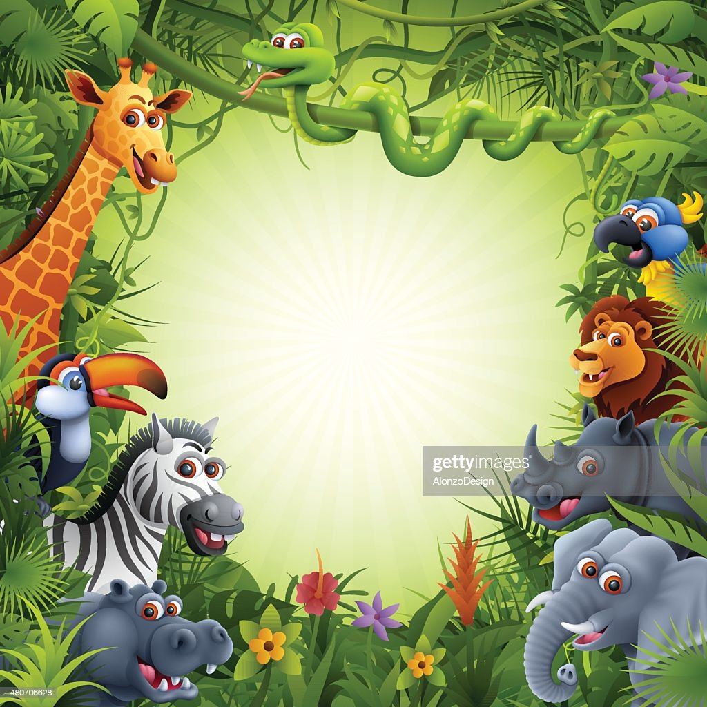 Jungle Animals Vector Art   Getty Images