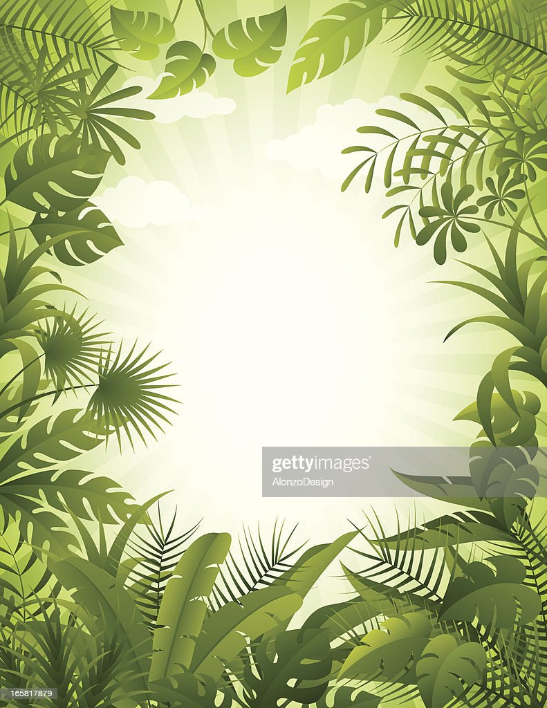Jungle background : stock illustration