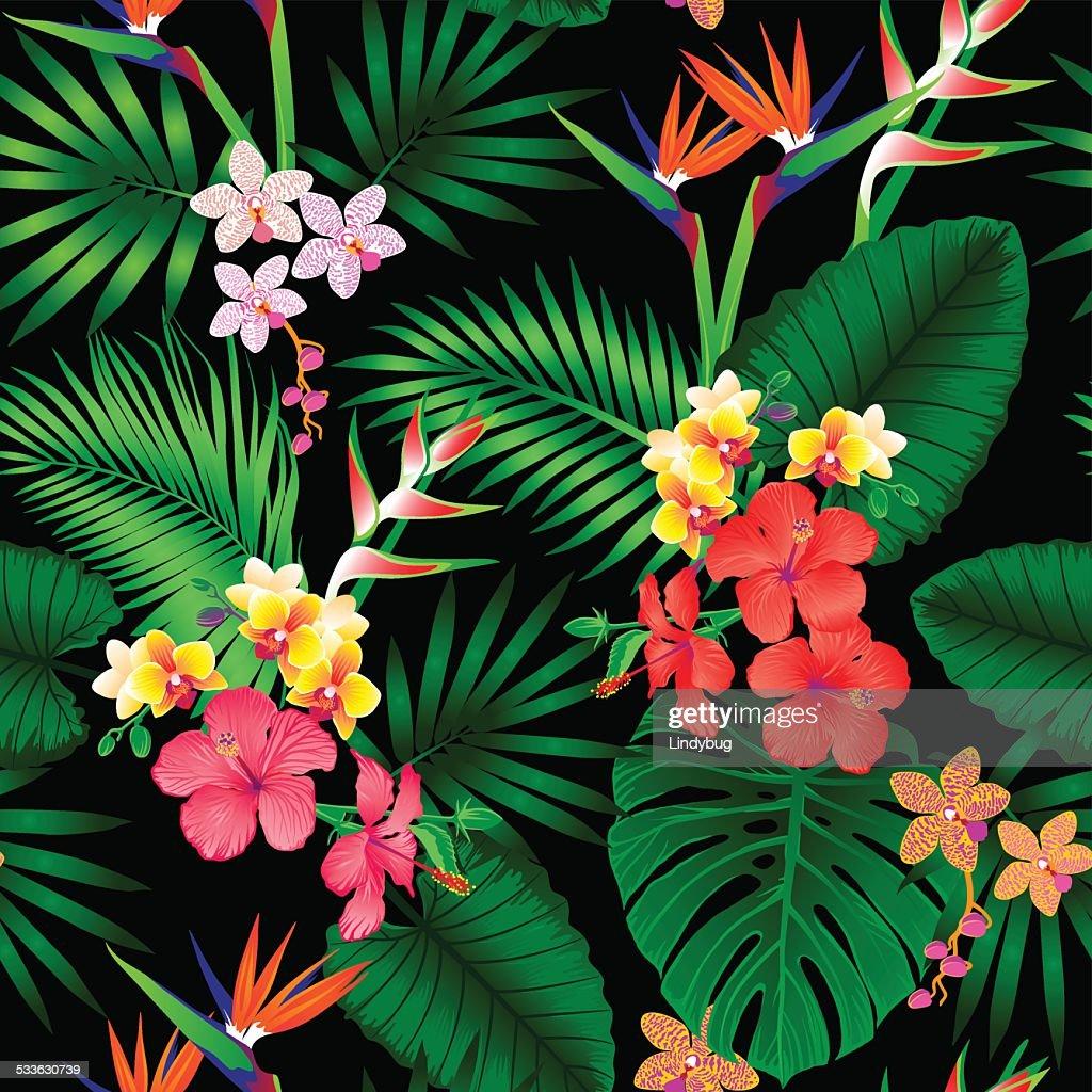 Jungle floral pattern