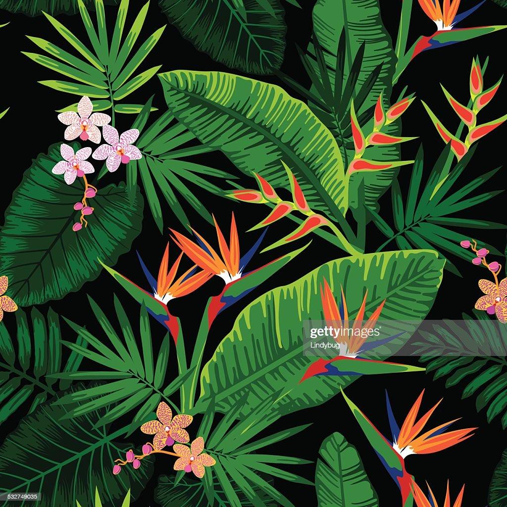Jungle floral repeat