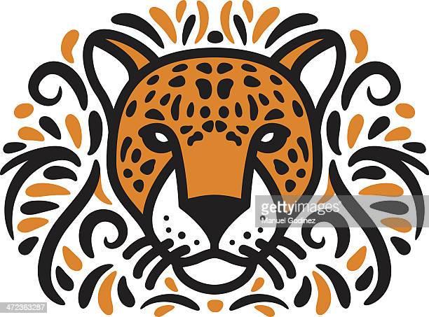 ilustraciones, imágenes clip art, dibujos animados e iconos de stock de jungle jaguar - jaguar