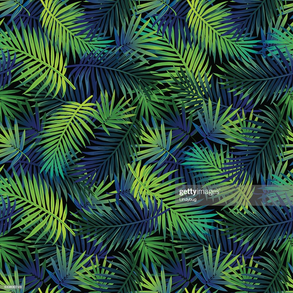 Jungle palm pattern