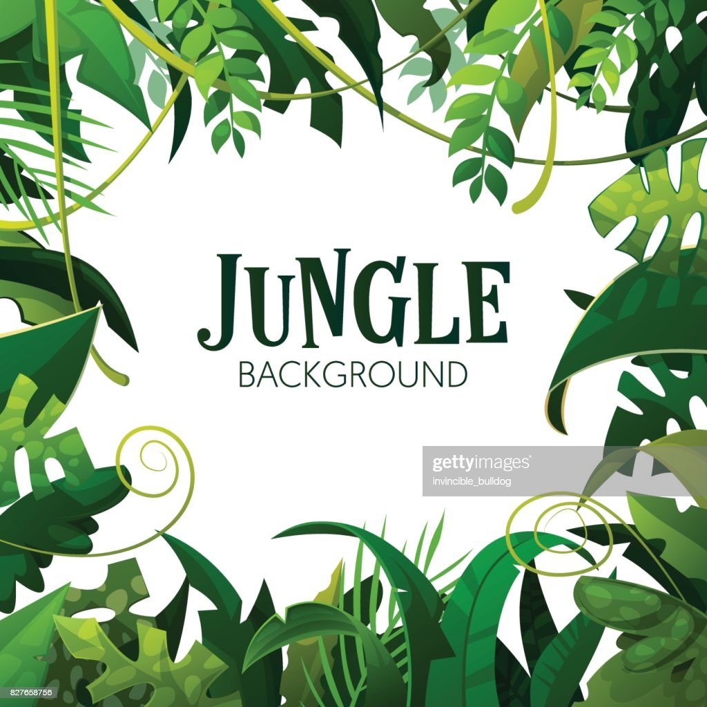 Jungle Tropical Leaves Background. Palm Trees Poster