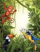 Jungle with wild animals