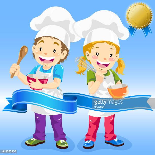 junior chef with award - egg beater stock illustrations, clip art, cartoons, & icons