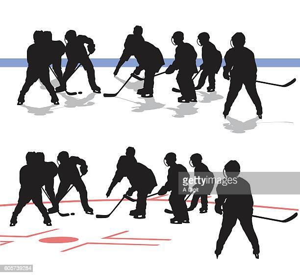 Junior Hockey Game Silhouette Vector