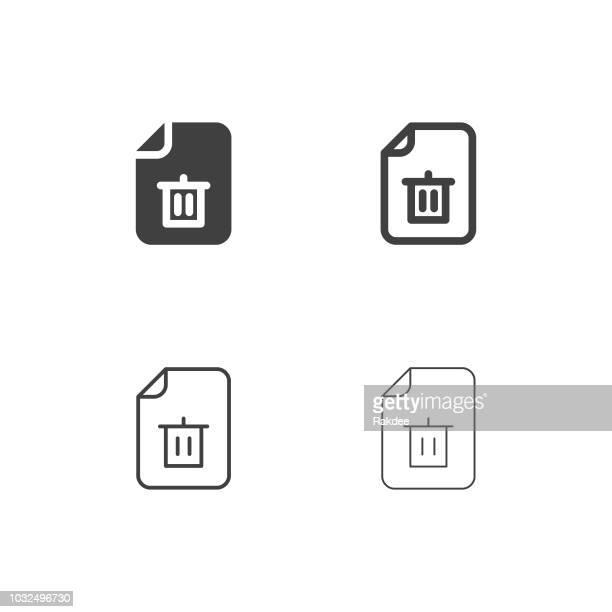 ilustrações de stock, clip art, desenhos animados e ícones de junk file icons - multi series - gari