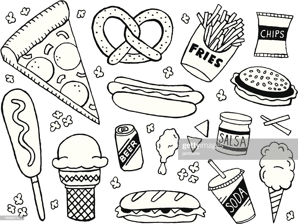 Junk Food Doodles