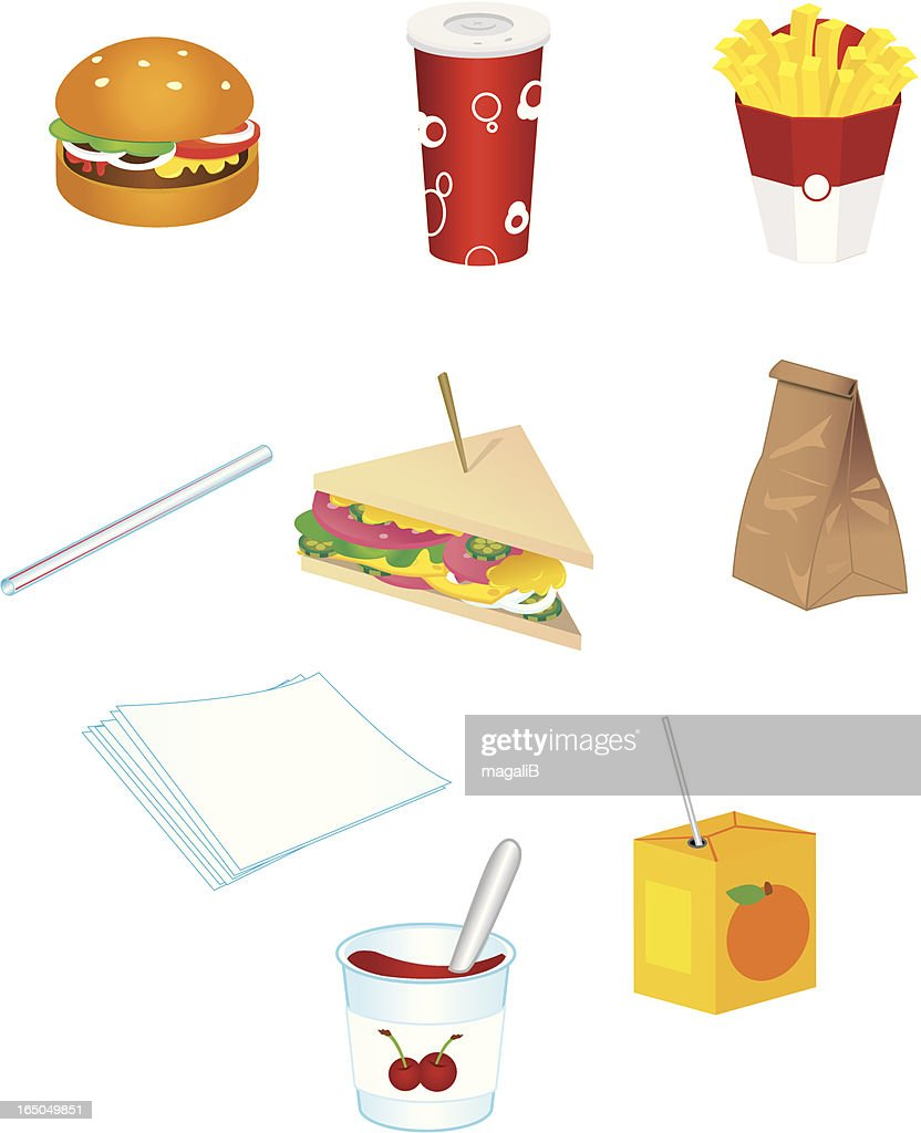 junk food icones : stock illustration