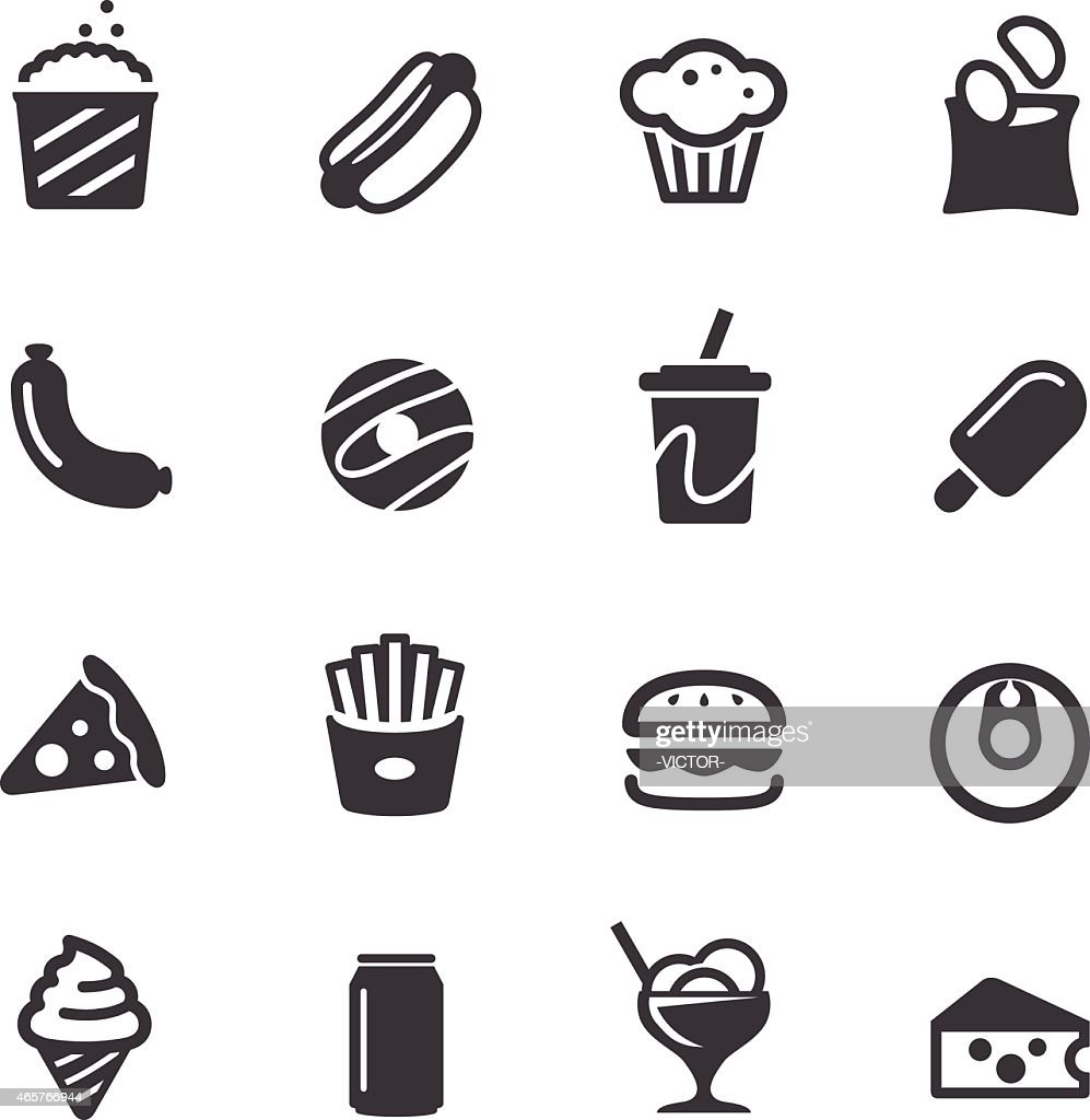 Junk Food Icons - Acme Series : stock illustration