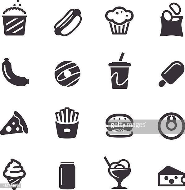 ilustraciones, imágenes clip art, dibujos animados e iconos de stock de basura iconos de alimentos-serie acme - patatas preparadas
