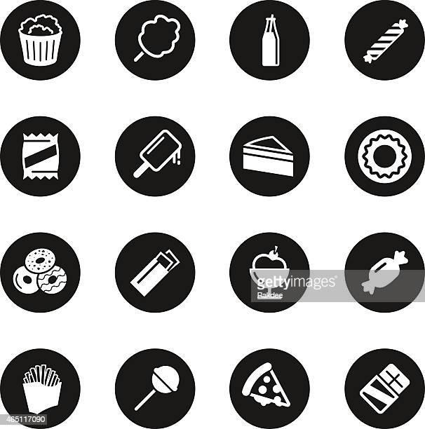 Junk Food Icons - Black Circle Series