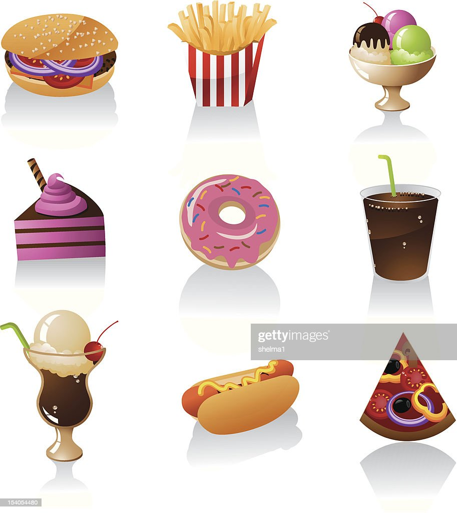 Junk Food Icons