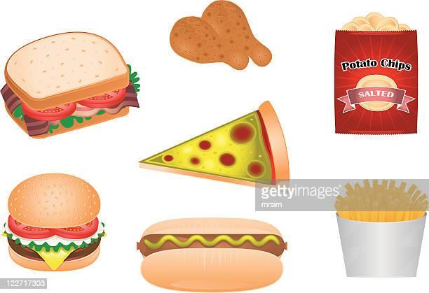 Junk Food Illustrations