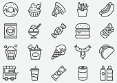 Junk Food Line Icons