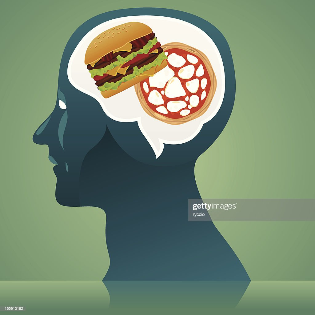 Junk food thinking : stock illustration