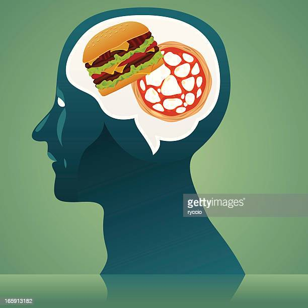 junk food thinking - body conscious stock illustrations, clip art, cartoons, & icons