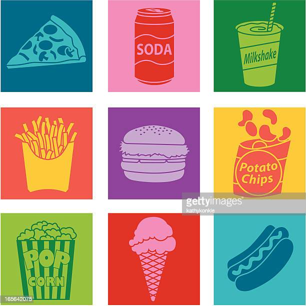 junk food - french fries stock illustrations, clip art, cartoons, & icons