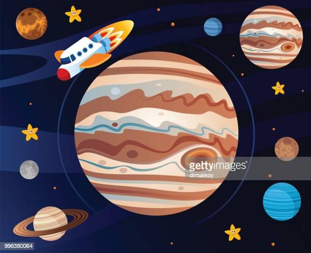 Jupiter and Spaceship