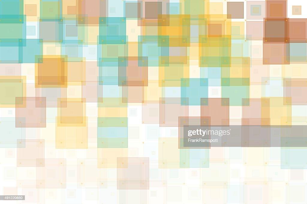 Jura Geometric Squares Pattern : Stock Illustration