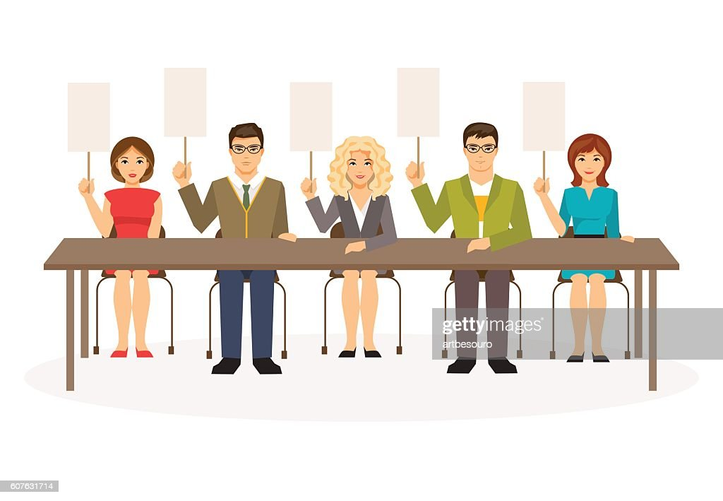 Jury. Vector illustration