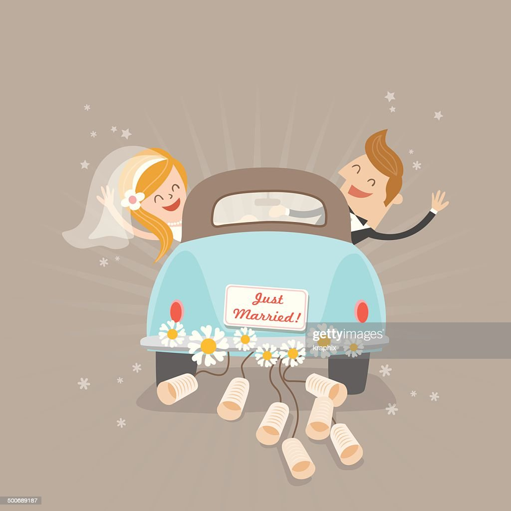 Just married car