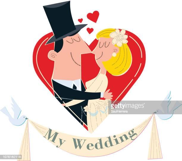 Solo casados en corazón boda