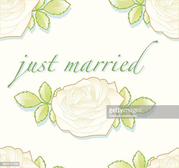 just married (seamless pattern). - rose petals stock illustrations, clip art, cartoons, & icons
