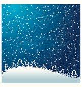 Just realistic beautiful snow