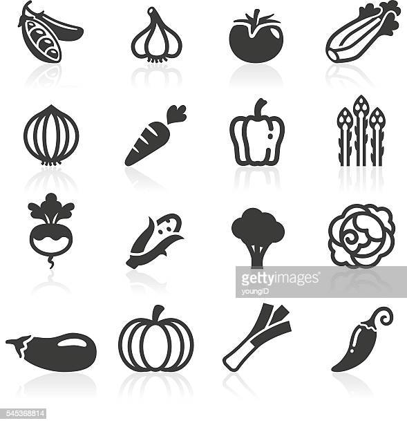 just vegetables icons - broccoli stock illustrations, clip art, cartoons, & icons