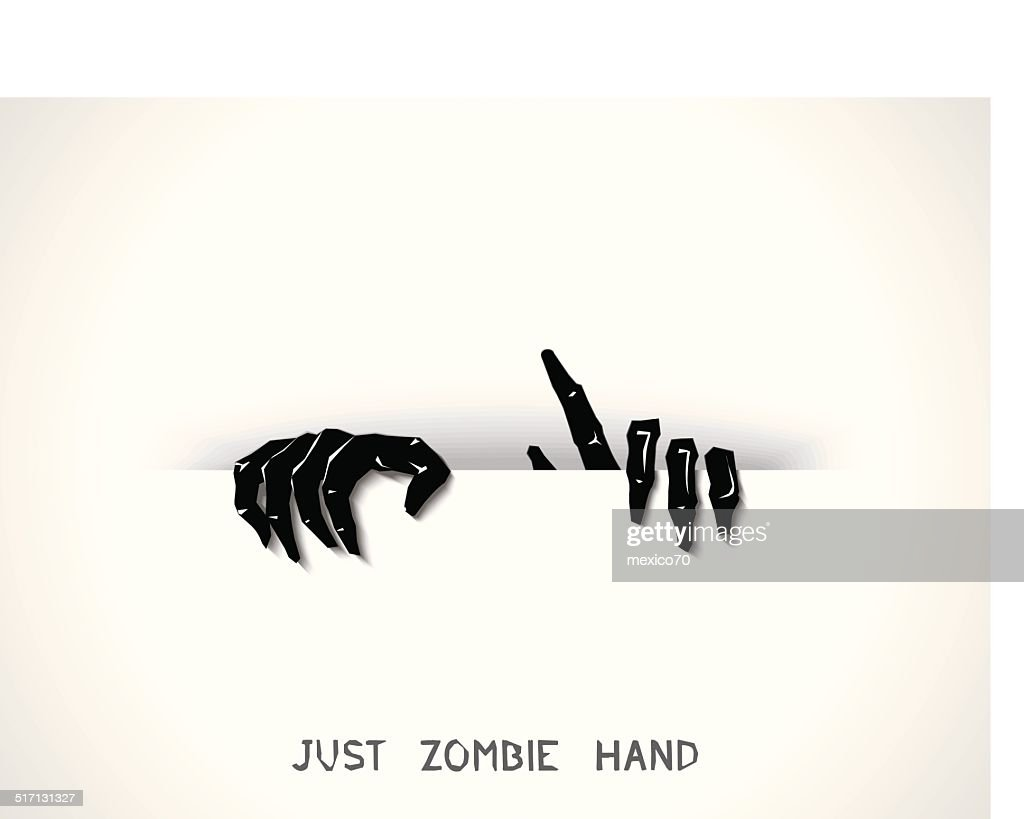 Just zombie hands from the slit