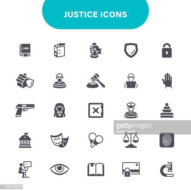 ilustrações de stock, clip art, desenhos animados e ícones de justice and crime icons - crime or recreational drug or prison or legal trial