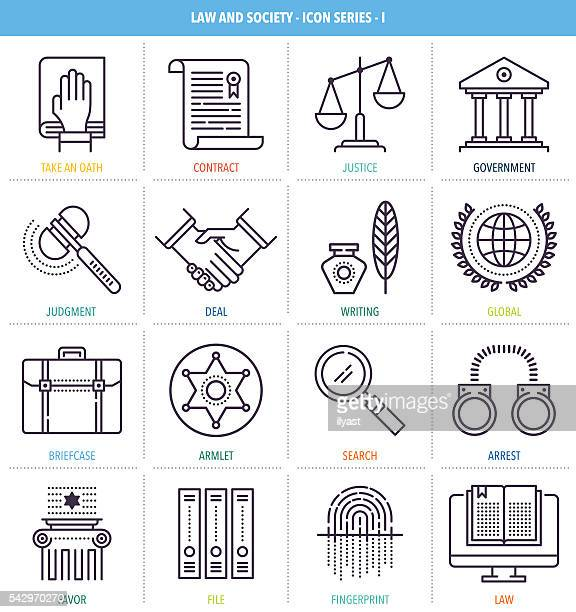 Justice and Equality Icon Set